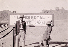 John and Jai at Landi Kotal station