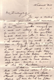 Letter from Archie to his wife